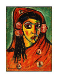Spanish Girl with a Red Scarf Prints by Alexej Jawlensky