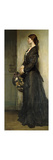 The Lady in Black Premium Giclee Print by Sir William		 Orpen