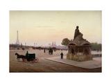 La Place de la Concorde, Paris Giclee Print by Ferrer y Palleja J.
