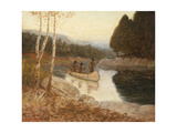 Ojibway Spearing Fish Giclee Print by Edwin Willard Deming