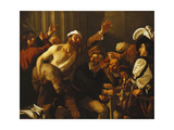 Christ Driving the Moneychangers from the Temple Giclee Print by Baburen Dirck