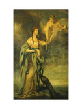 Portrait of Annabella, Lady Blake as 'Juno Receiving the Cestus from Venus' Posters by Sir Joshua Reynolds