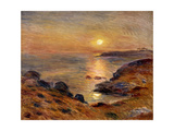 The Setting of the Sun at Douarnenez Art by Pierre-Auguste		 Renoir