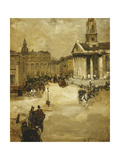 St. Martins in the Field from Trafalgar Square Print by Alexander		 Jamieson