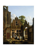 A Dutch Courtyard Prints by Jan Hendrik		 Verheyen