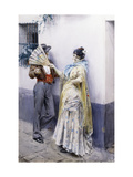 Flirtation Giclee Print by Anders Leonard Zorn