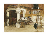 A View of Meissonier's Studio Giclee Print by Gustave		 Mequillet