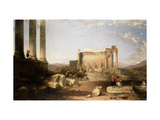 Ruins of the Temple of the Sun at Baalbec Prints by David		 Roberts