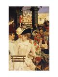 A Venetian Cafe Giclee Print by Oscar Wilson