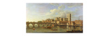 A View of Westminster with the Royal Barge and Other Shipping Premium Giclee Print by Joseph		 Nickolls
