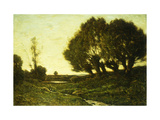 A Wooded Landscape with a Stream Posters by Henri-Joseph		 Harpignies