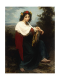 Italienne au Tambour de Basque Art by William Adolphe Bouguereau