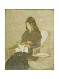 The Seated Woman Premium Giclee Print by Gwen		 John