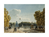 A View of the Tuileries from the Champs-Elysees Prints by Jean Lubin		 Vauzelle