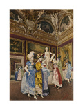 A Visit to the Pitti Palace Giclee Print by Giovanni Battista		 Filosa