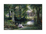 The Art Lesson Premium Giclee Print by Wilhelm		 Trautschold