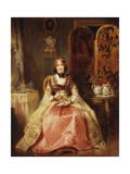 Portrait of Lady Dorothy Nevill (1826-1913), seated in a Pink and Gold Embroidered Gown Posters by Henry Richard		 Graves