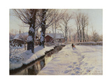 A Wooded Winter Landscape, Brondbyvester Posters par Peder Monsted