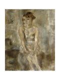 Young Woman Sitting in Chemise Giclee Print by Jules		 Pascin
