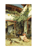 In the Courtyard Giclee Print by Madrazo y Garreta Ricardo