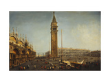 The Piazza San Marco, Venice, from the Torre dell'Orologio Poster by Michele		 Marieschi