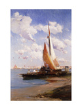 Fishing Craft with the Rivere degli Schiavoni, Venice, beyond Prints by E. Aubrey		 Hunt