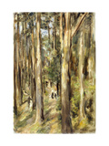 Picnic in the Woods Poster by Max		 Liebermann