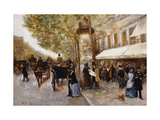 Les Grands Boulevards, Paris Giclee Print by Giovanni		 Lessi