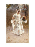 The Little Flower Girl Giclee Print by Albert		 Raudnitz
