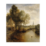 A View of Stratford Upon Avon Impression giclée par James Webb