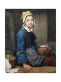 The Young Milk Maid Giclee Print by Deschanger, after Hublin O.