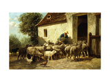 Returning Home Premium Giclee Print by Charles Emile		 Jacque