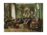 Vue de Salon de la Comtesse de Salverte (nee Daru) a Paris Prints by Genaille Felix Francois