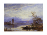 A Ferry at Sunset Giclee Print by Myles Birket		 Foster