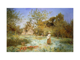 Young Girl in an Orchard Prints by Duncan		 MacKellar