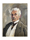 Portrait of Carl Steinbart Giclee Print by Max		 Slevogt