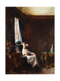 Reading by the Window Art by Tayler Albert Chevallier