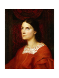 Portrait of Lady Wolverton, nee Georgina Tufnell Giclee Print by George Frederic		 Watts