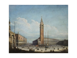 The Piazza San Marco and the Piazzetta, Venice, looking South-West Giclee Print by (attributed to) Antonio Joli