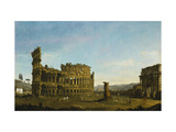 The Colosseum and the Arch of Constantine Print