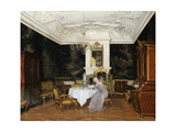 A Lady in an Interior, Fredensborg Print by Adolf Heinrich Hansen