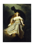 The Muse of Music Giclee Print by Karl Ludwig Adolf		 Ehrhardt