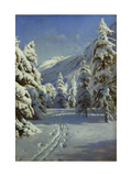 A Wooded Winter Landscape, Mortaratsch Premium Giclee Print by Peder Mork Monsted