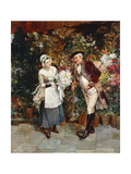 The Flower Girl Giclee Print by Henry Gillard		 Glindoni