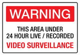 Warning Area Under Video Surveillance Sign Poster Affiches