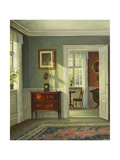 An Interior Giclee Print by Hans Hilsoe