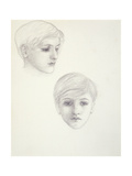 Studies of the Artist's Son, Philip, as a Young Boy, c.1875 Print by Edward		 Burne-Jones