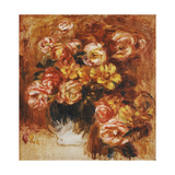 Vase of Roses Prints by Pierre-Auguste		 Renoir