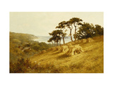 Harvest Time, Fairlight, Sussex Giclee Print by Henry H.		 Parker