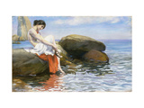 Preparing to Bathe Premium Giclee Print by Wilhelm		 Wunderwald